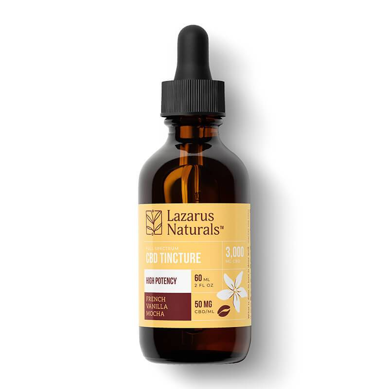 Lazarus Naturals - CBD Tincture - Full Spectrum French Vanilla Mocha - 1500mg-6000mg - Oils - 60ml - High Potency - 3000mg - Lazarus Naturals - Have A Nice Day CBD
