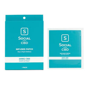 Social CBD - CBD Topical - Patch - 20mg -  - 20mg Patch - Single - Social - Have A Nice Day CBD