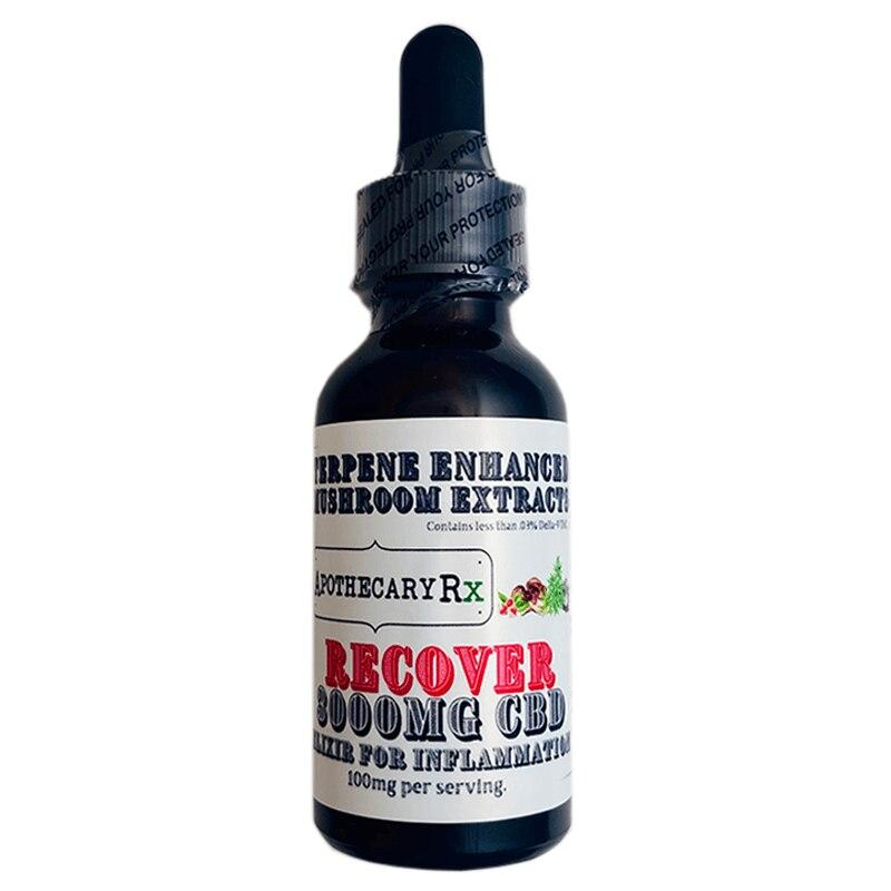 Apothecary RX - CBD Tincture - Recover Elixir - 1000mg-3000mg -  - 3000mg - Apothecary RX - Have A Nice Day CBD