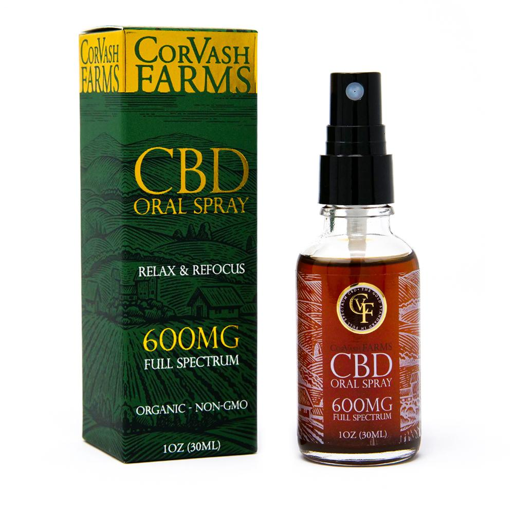 Corvash Farms CBD Oral Spray - 600MG - Have A Nice Day CBD