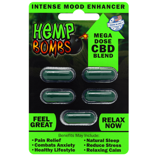Hemp Bombs - CBD Capsules - 5 pack