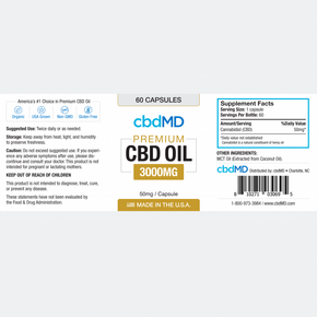 cbdMD - CBD Oil Capsules - 60 Count - Have A Nice Day CBD