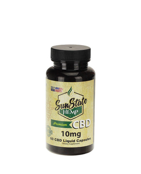Sun State Hemp - Full Spectrum Liquid CBD Capsules - 60 Count - Capsules & Pills - 10MG - Sun State Hemp - Have A Nice Day CBD