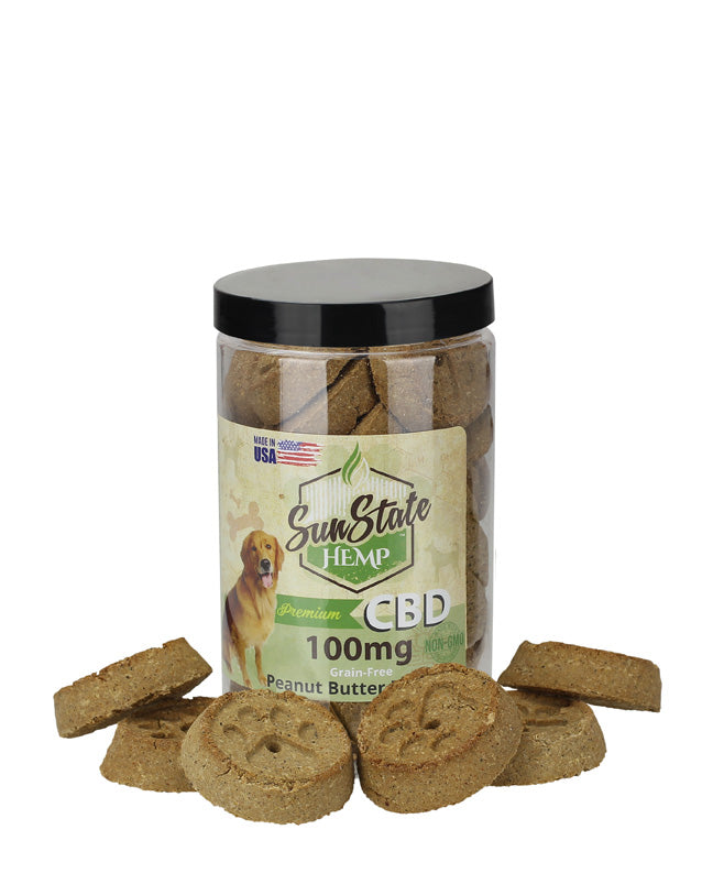 Sun State Hemp - Pet Treats Grain-Free Peanut Butter Biscuits - Have A Nice Day CBD