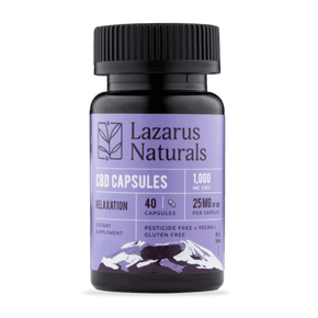 Lazarus Naturals - Relaxation Blend 25mg CBD Capsules - Have A Nice Day CBD