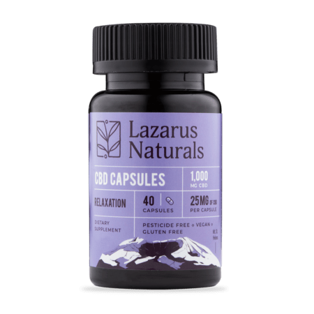 Lazarus Naturals - Relaxation Blend 25mg CBD Capsules
