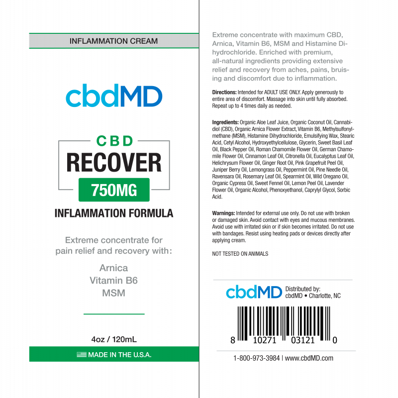 cbdMD - Recover 2oz 300mg - Have A Nice Day CBD