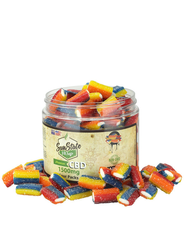 Sun State Hemp - CBD Gummy Sour Packs
