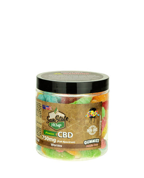 Sun State Hemp - Full Spectrum Gummy Worms - 750MG - Have A Nice Day CBD