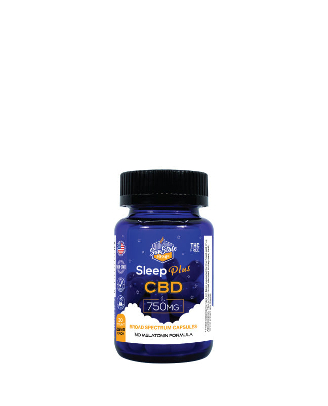 Sun State Hemp - CBD Sleep Plus - 30pcs - Edibles - 750mg Capsules - Sun State Hemp - Have A Nice Day CBD