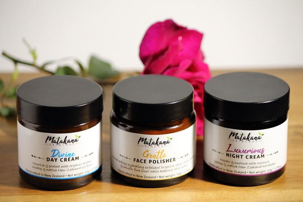 Matakana Skincare Face Cream & Polisher Trio