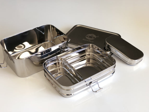 Double Tier Stainless Steel Bento Lunch Box