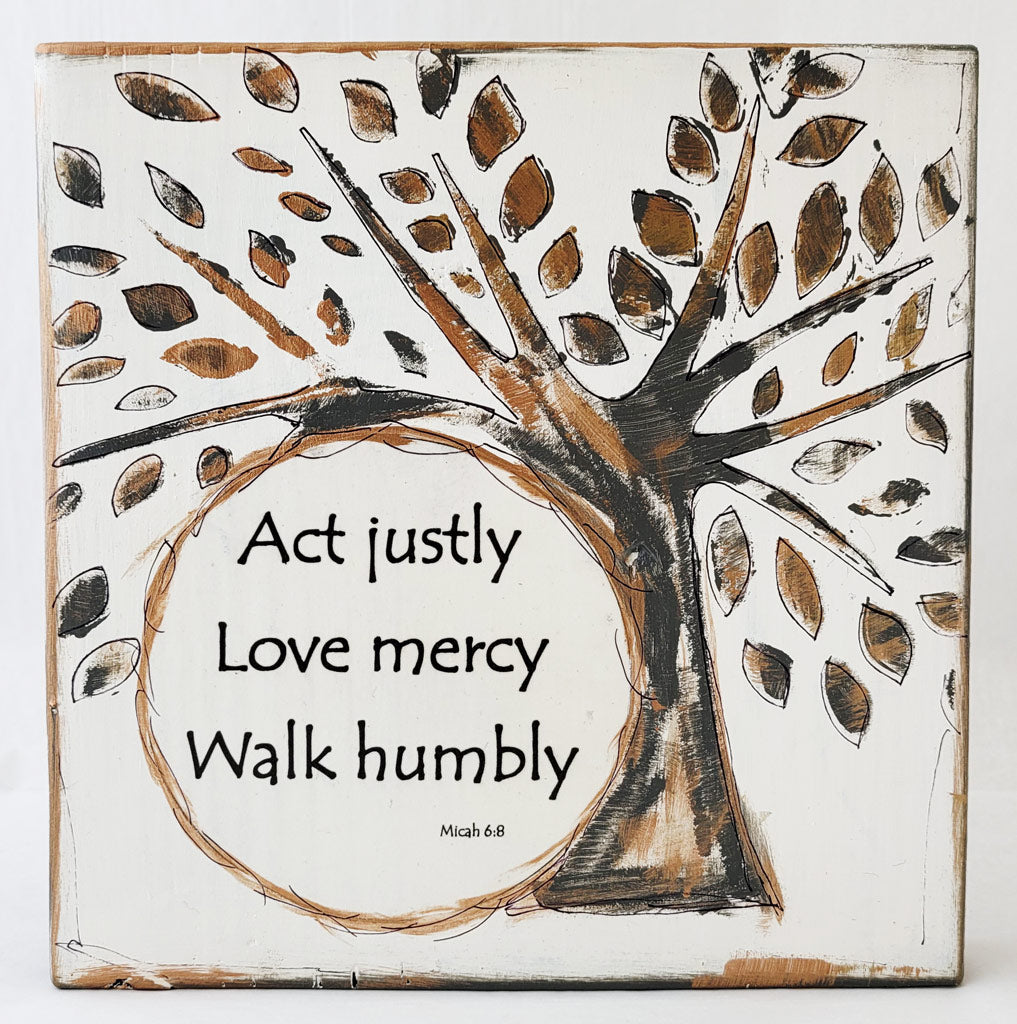 "Act Justly 9""x9"""