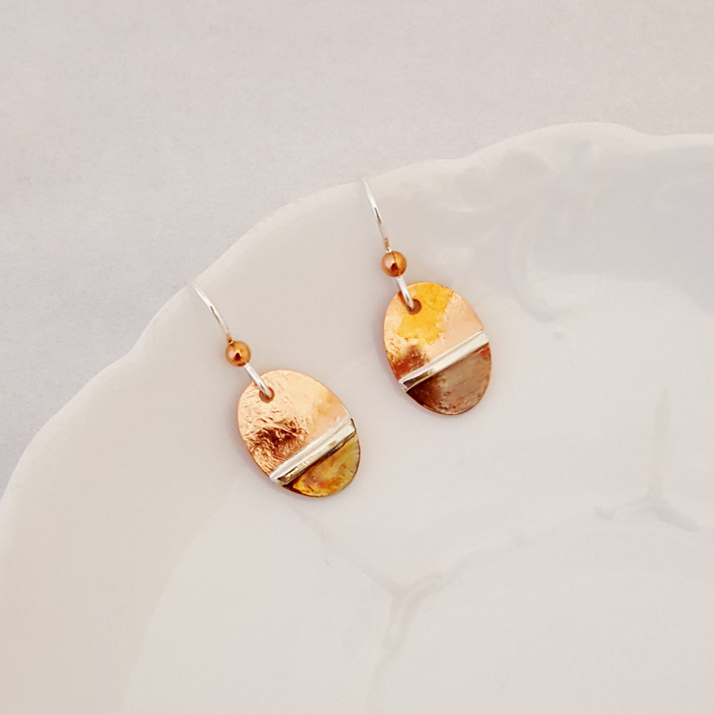 An Artful Balance in Oval - Earrings