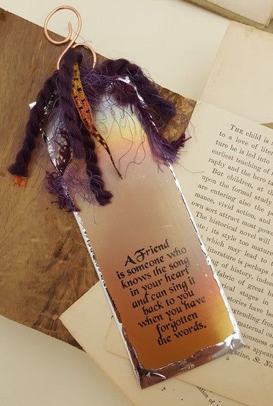 A Friend is Someone Who Knows the Song - Bookmark