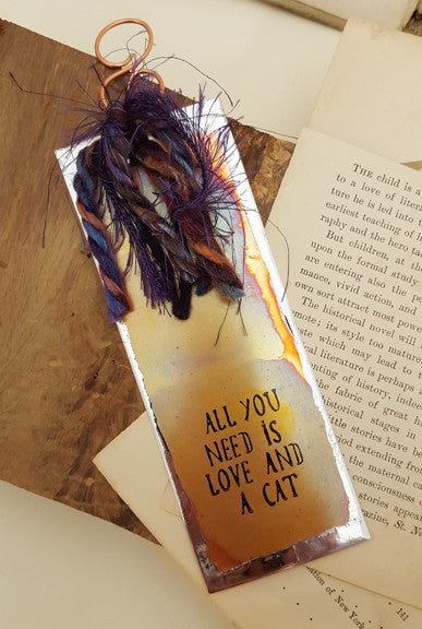All You Need is Love and a Cat - Bookmark