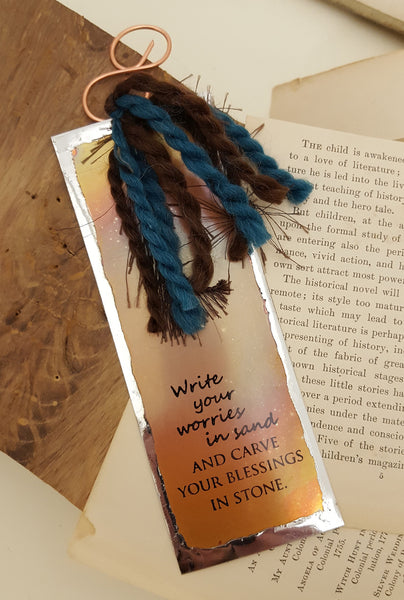 Write Your Worries in Sand - Bookmark