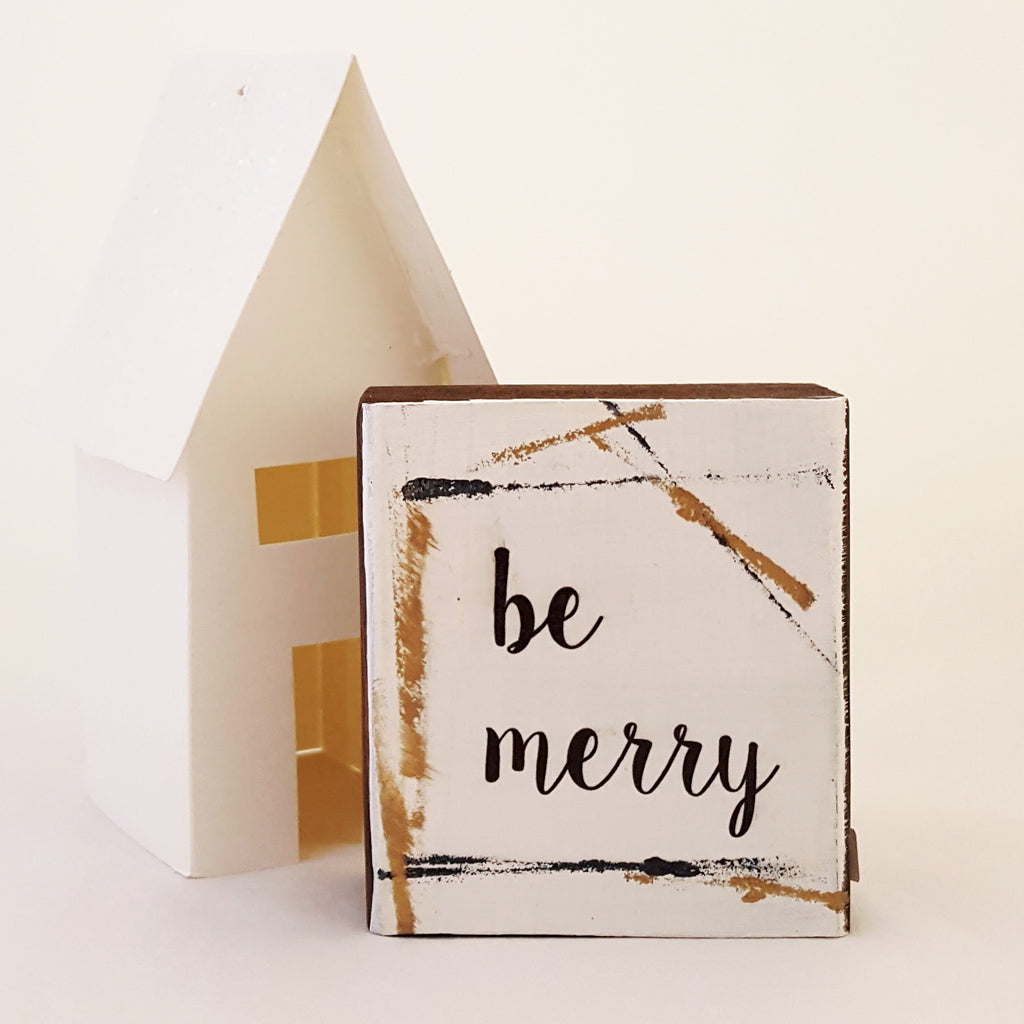 Be Merry - Mini Word Block