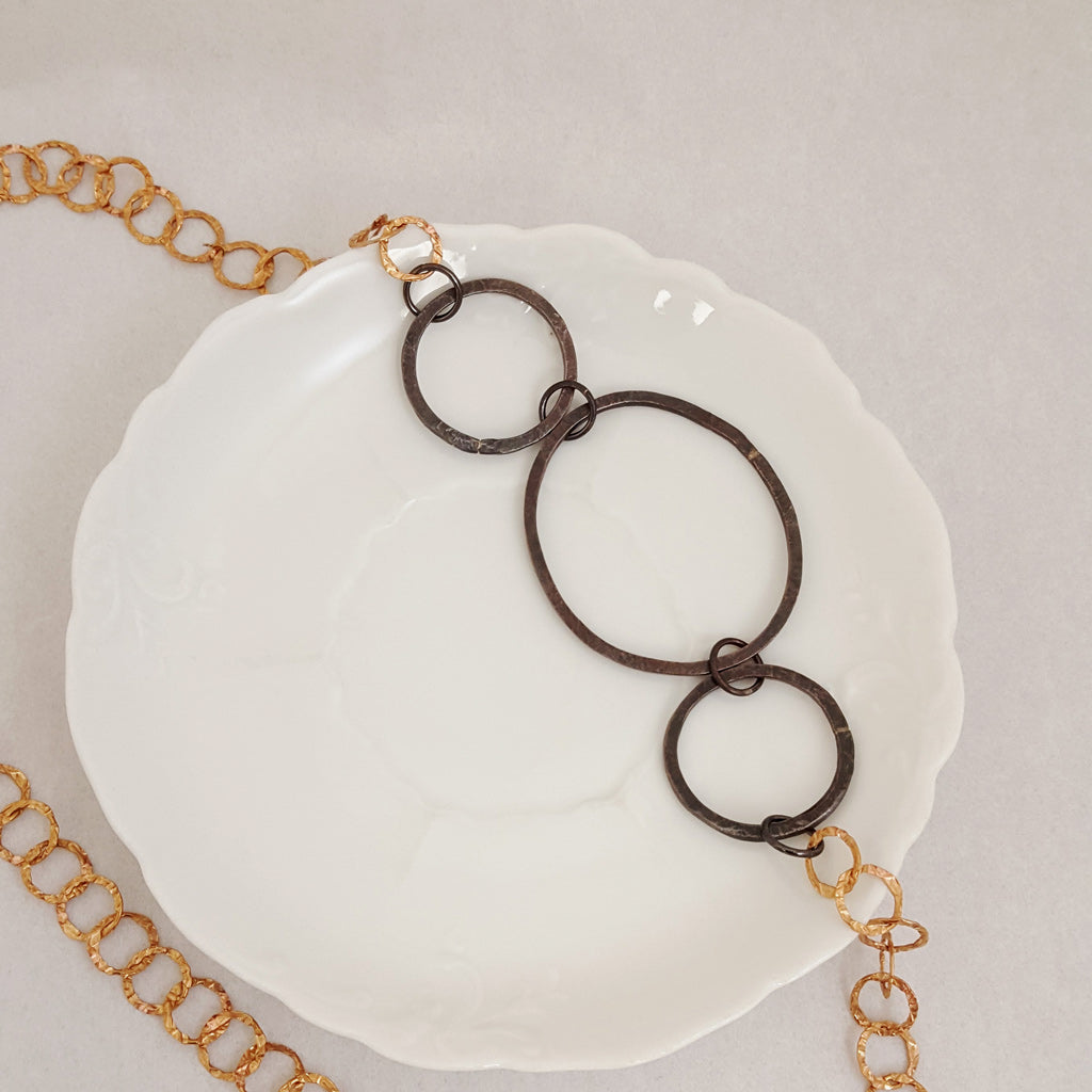 Black to Basics in Circle Trio - Necklace