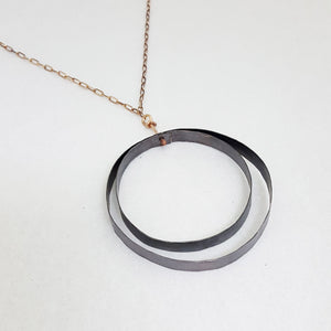 Black to Basics in Circle Dual - Necklace