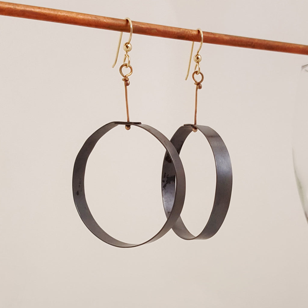 Black to Basics in Circles Lg - Earrings