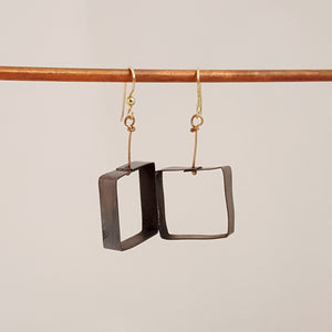 Black to Basics in Squares Med - Earrings