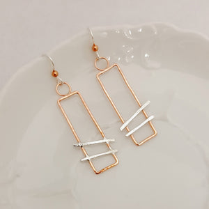 City Tracks in Copper - Earrings