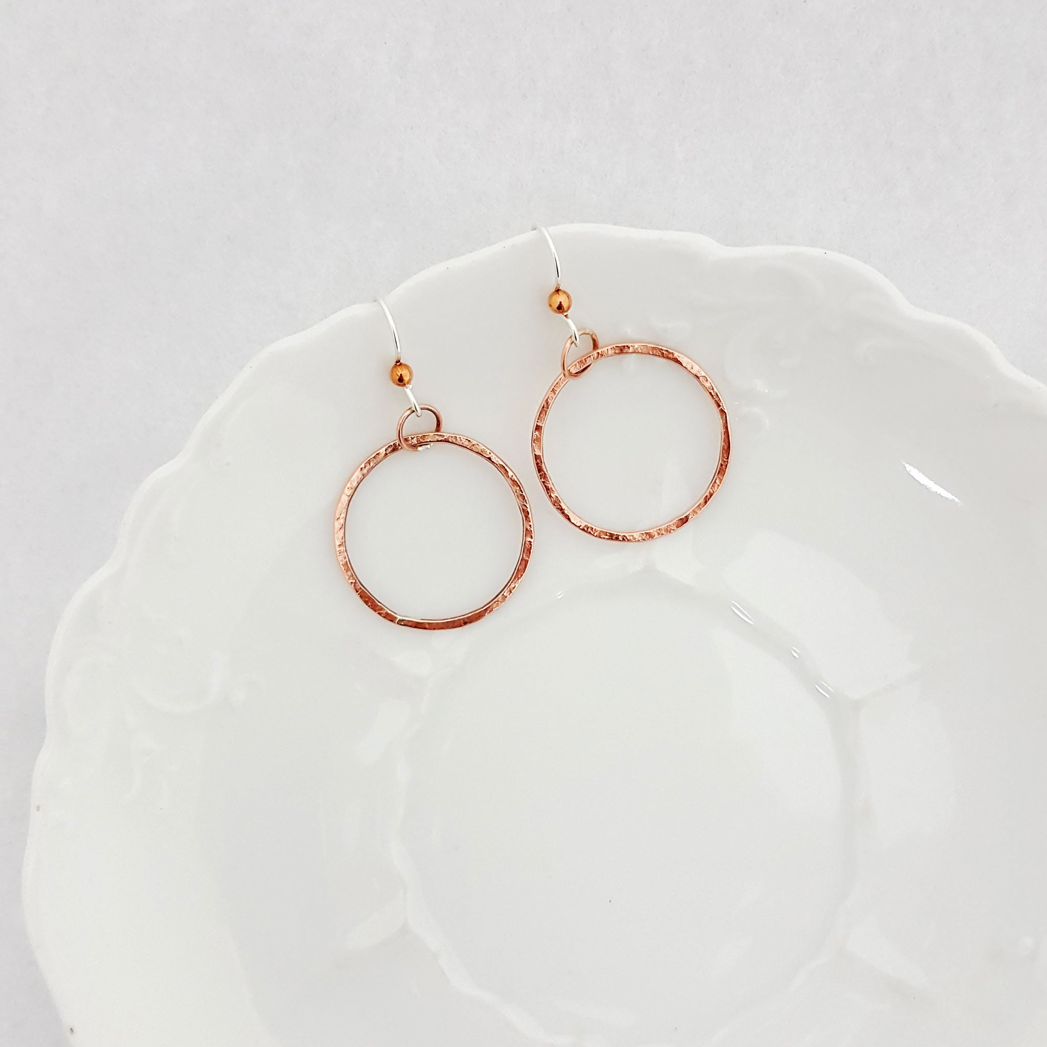 Classic Circle Earrings in Copper - Select Size