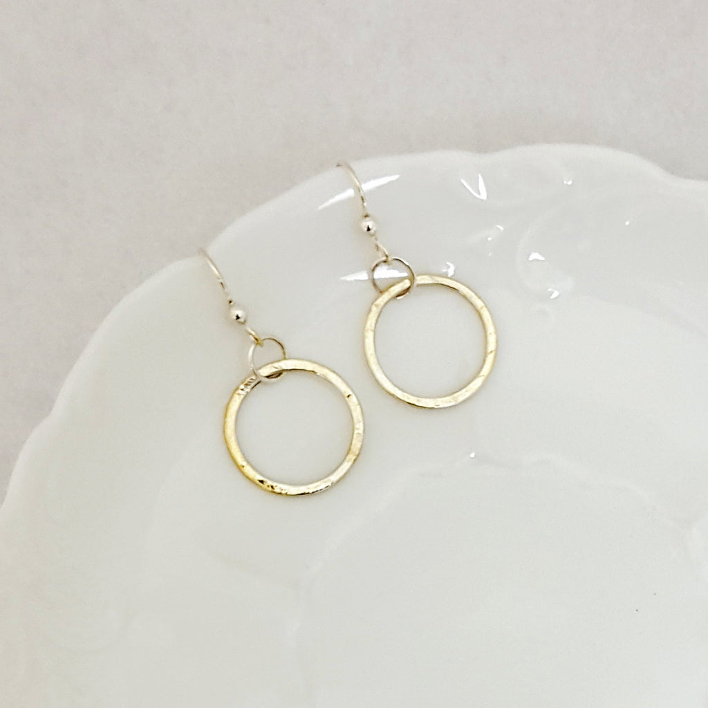 Classic Circle Small Earrings - Sterling Silver