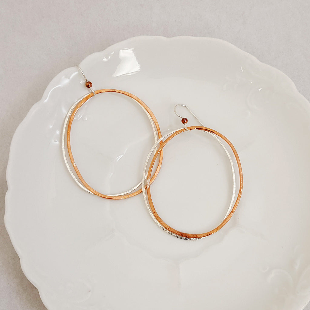Classic Large Doubled in Ovals - Earrings