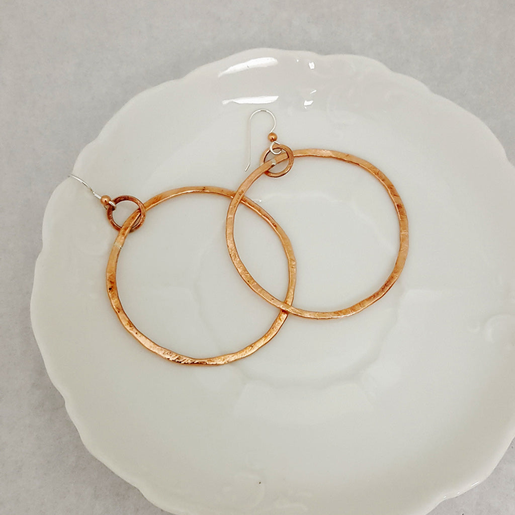Classic Circle Earrings-Large