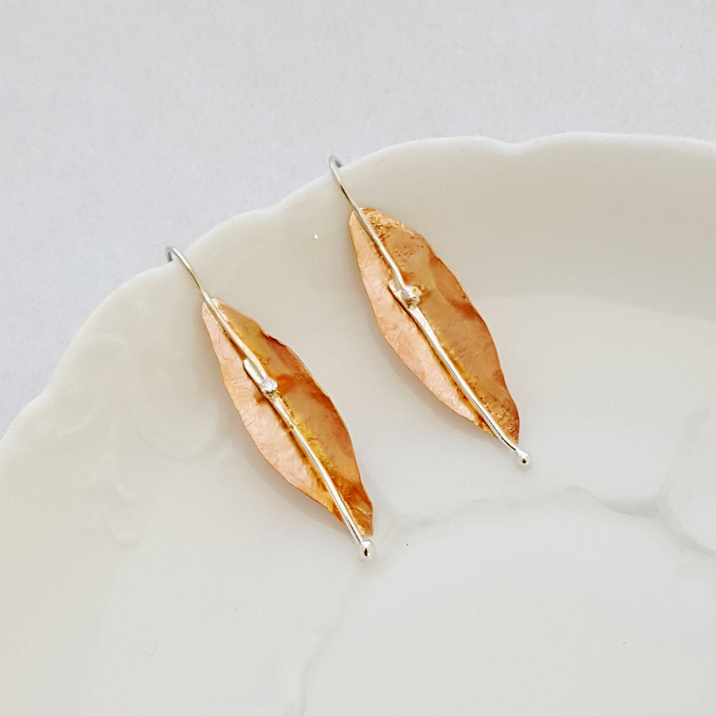 Classic Leaf in Bloom - Earrings