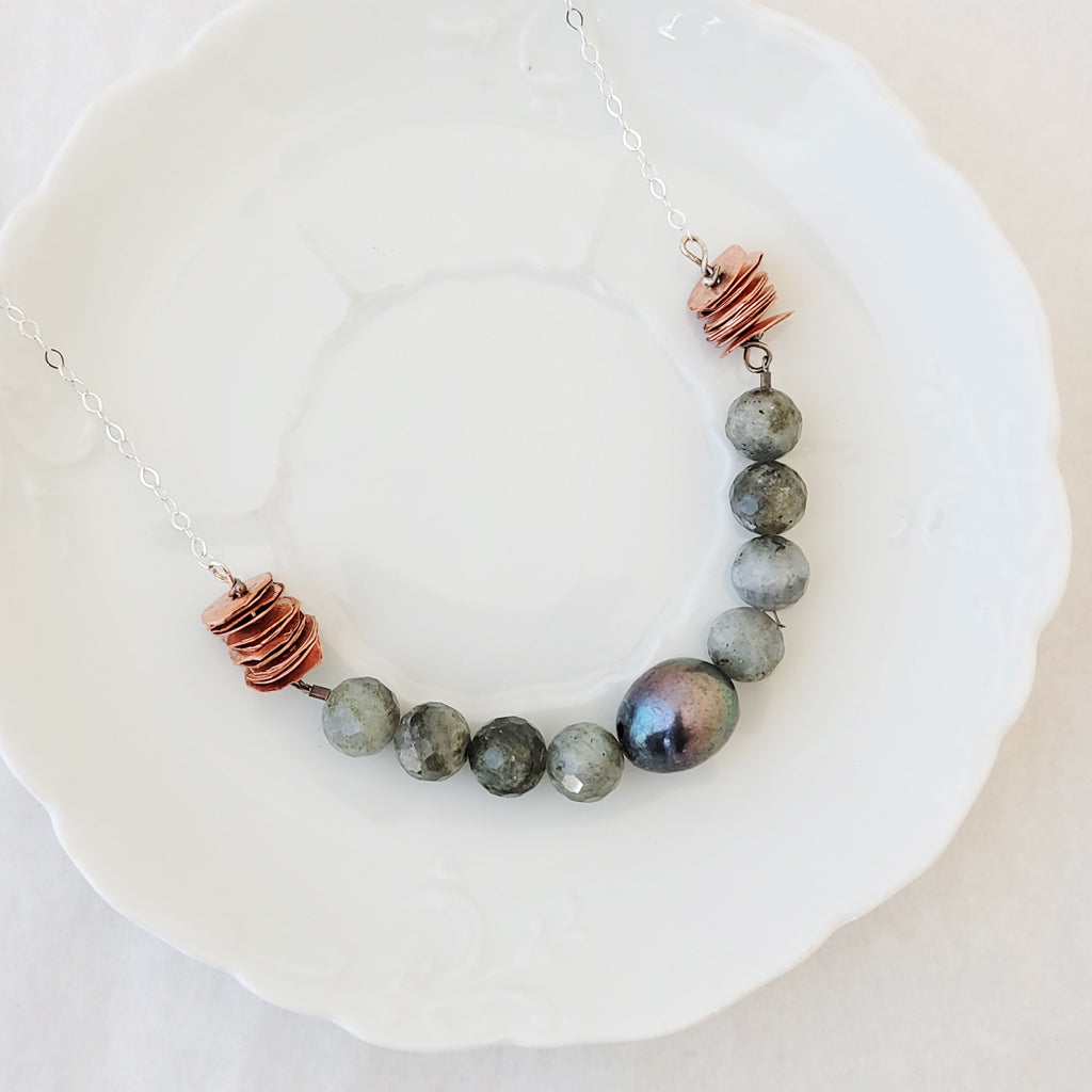 Collective with Labradorite - Necklace
