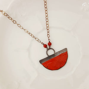 Color Dipped in Orient Red - Necklace