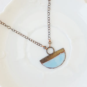 Color Dipped in Powder Blue - Necklace