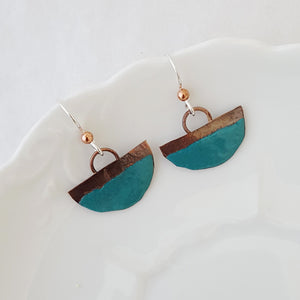 Color Dipped in Turquoise - Earrings