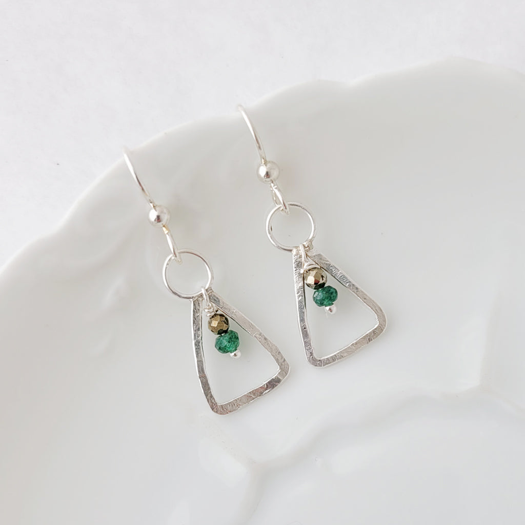 Embraced Emerald - Earrings