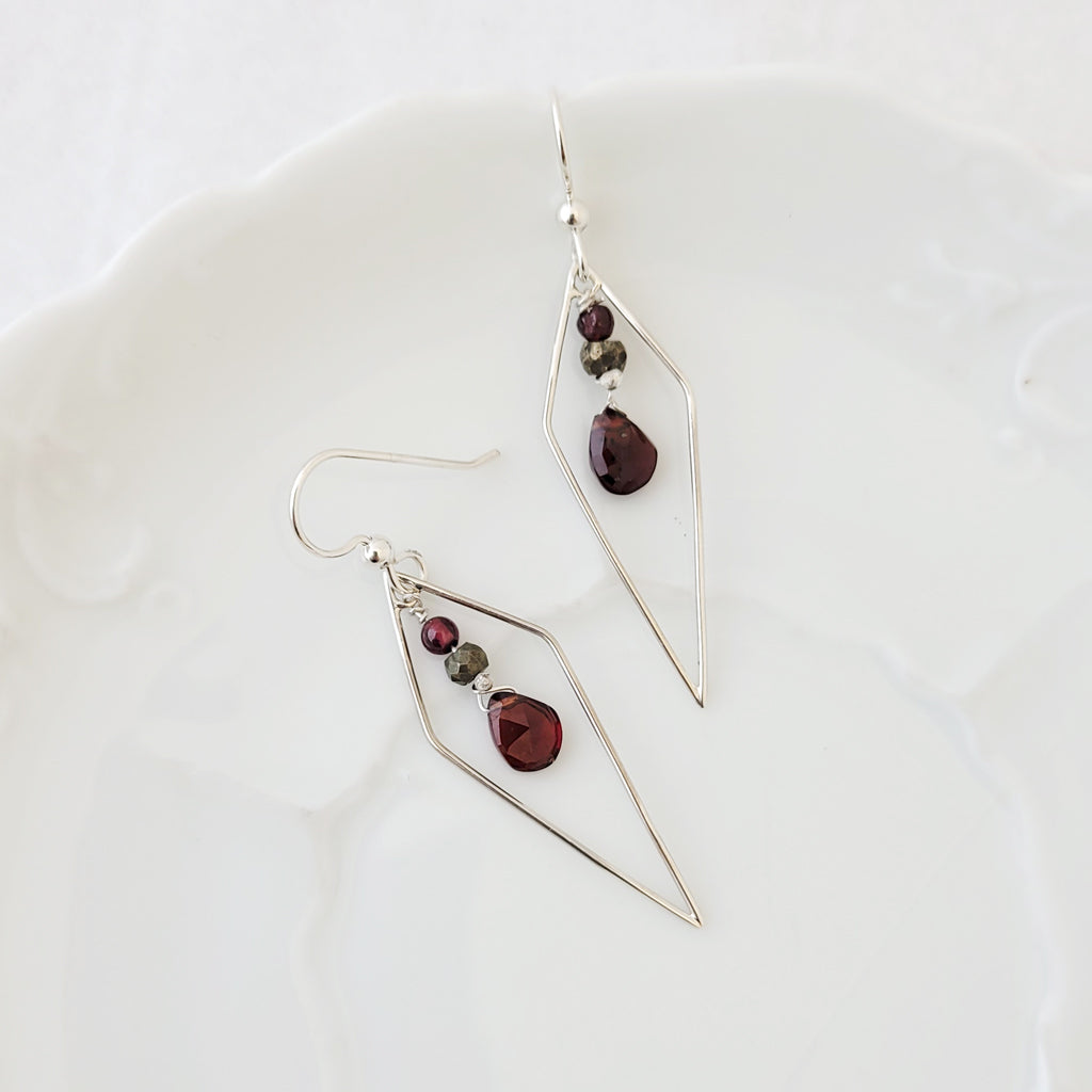 Inspiring Garnet - Earrings