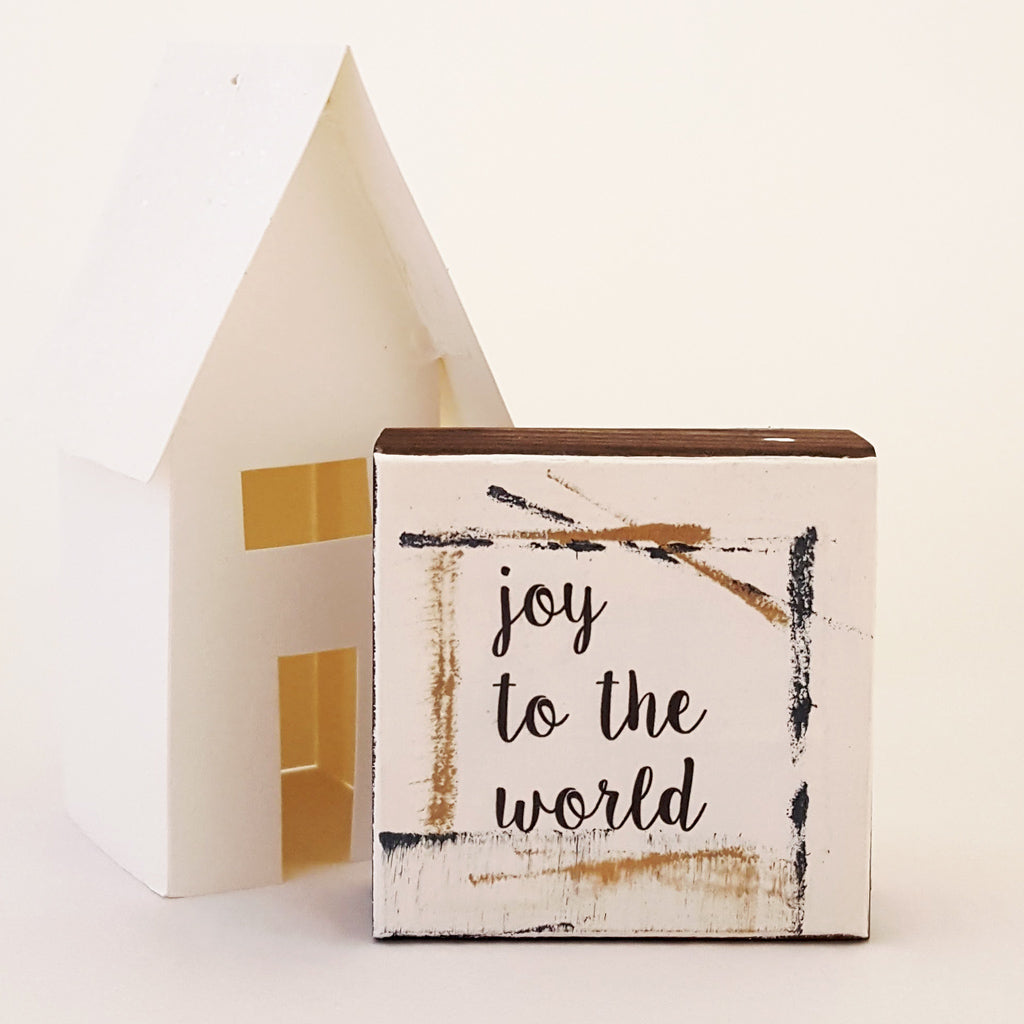 Joy to the World - Mini Word Block