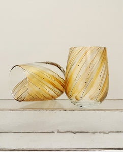 Metallic Whirlwind Stemless