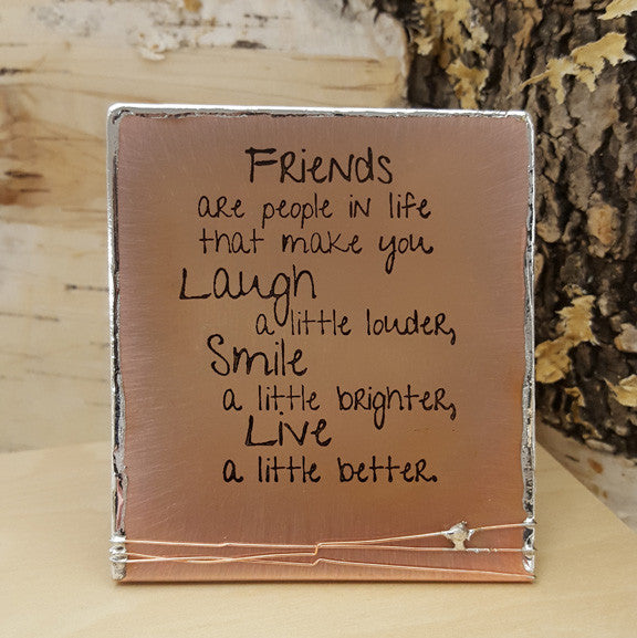 Friends are People in Life - Mini