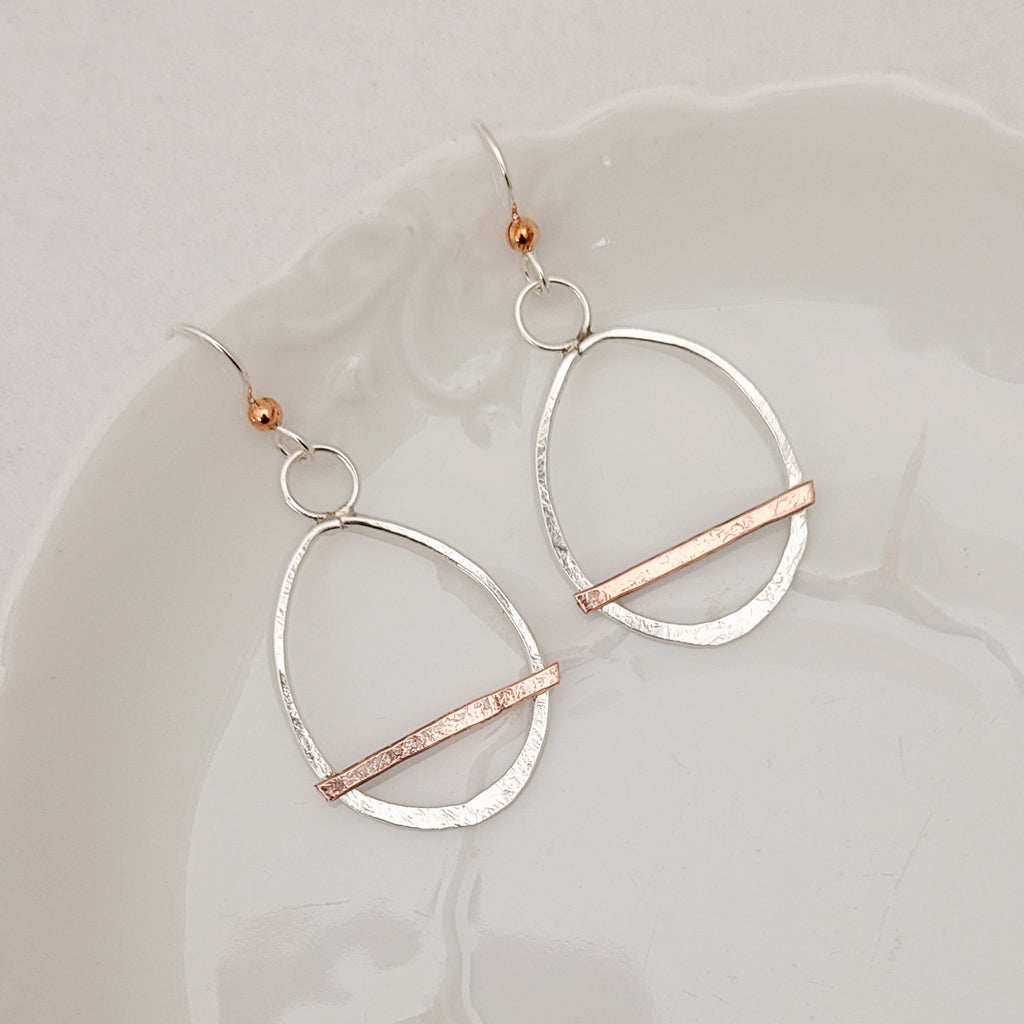 Oval Bridge - Earrings