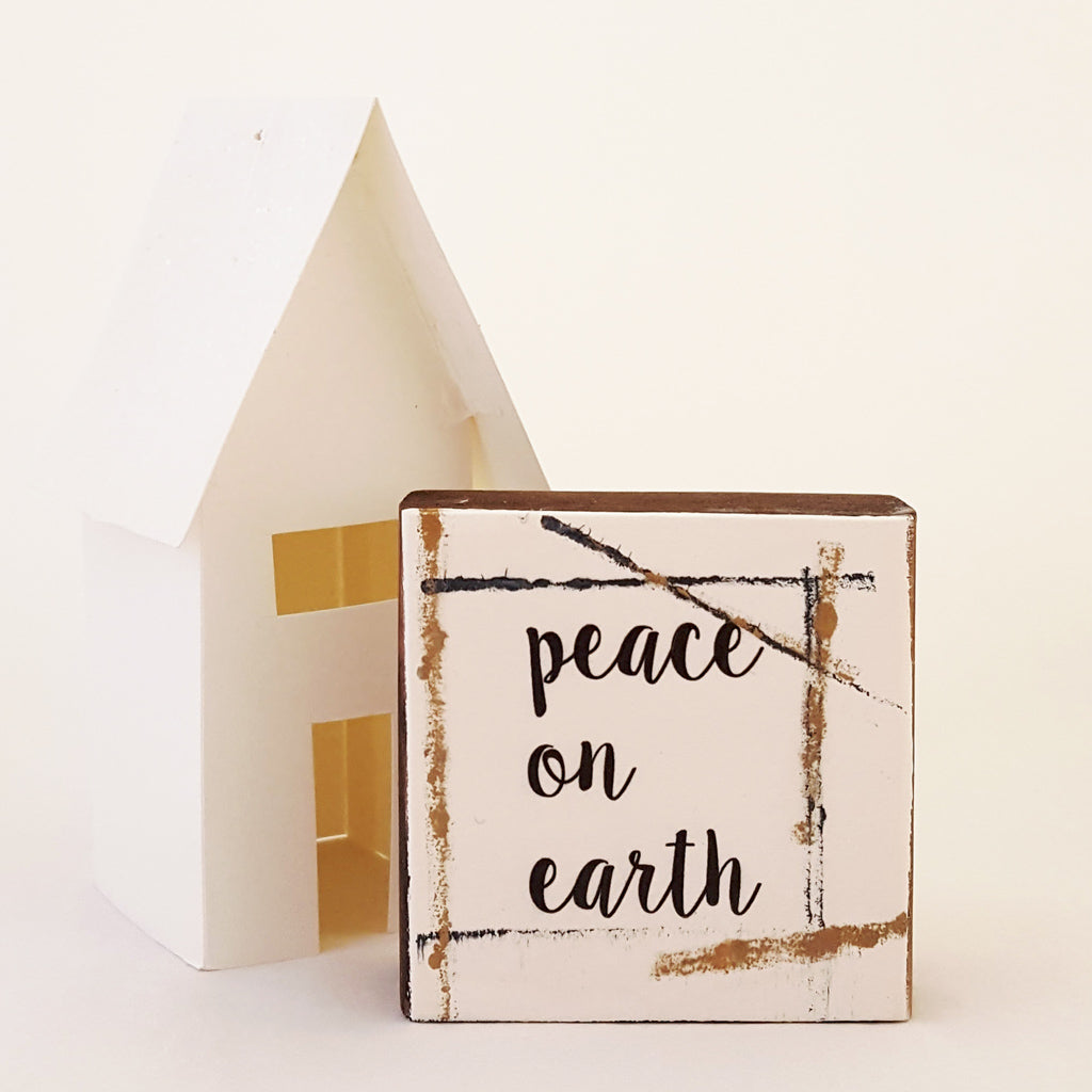 Peace on Earth - Mini Word Block
