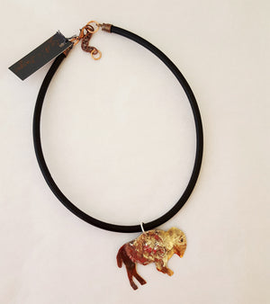 Prairie Pride on Leather - Necklace
