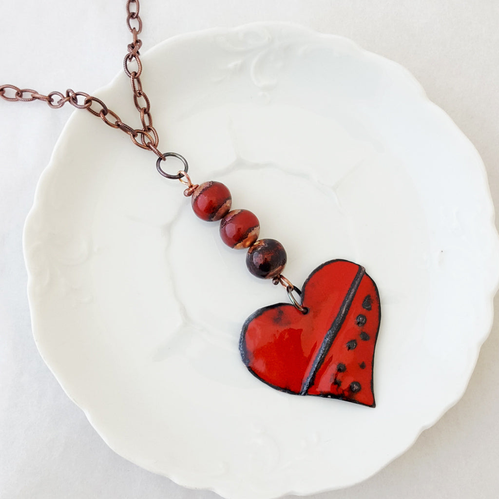 Red Hot Heart I - Necklace