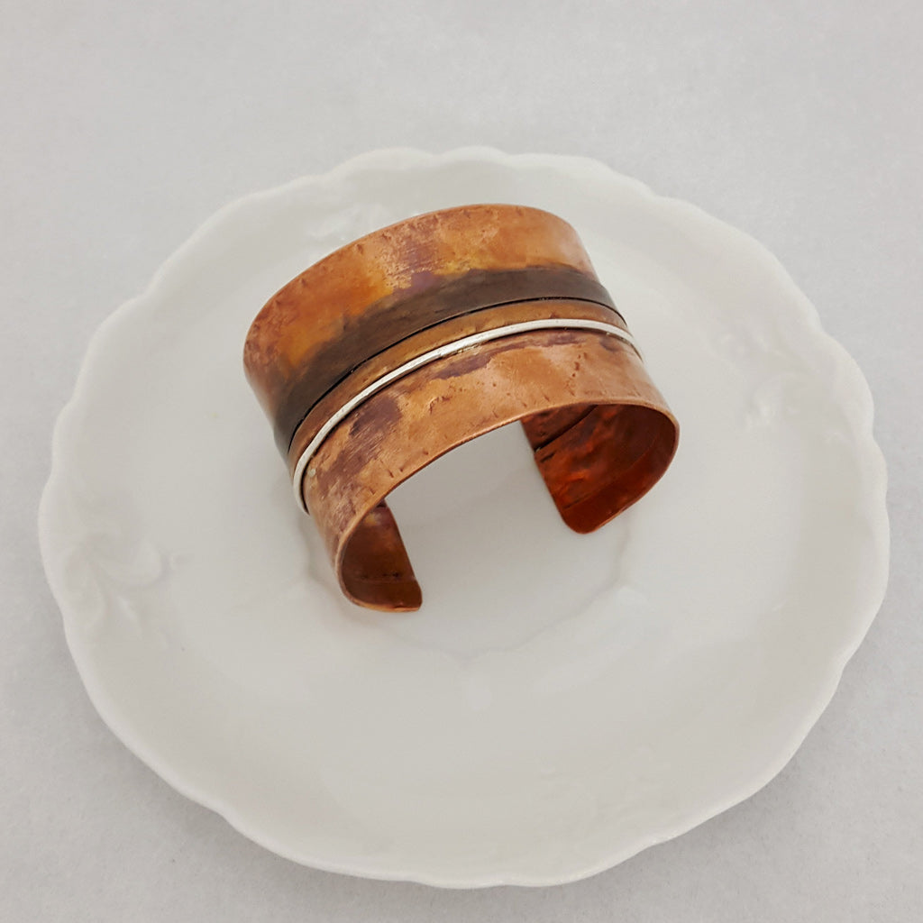 Side by Side Copper Cuff