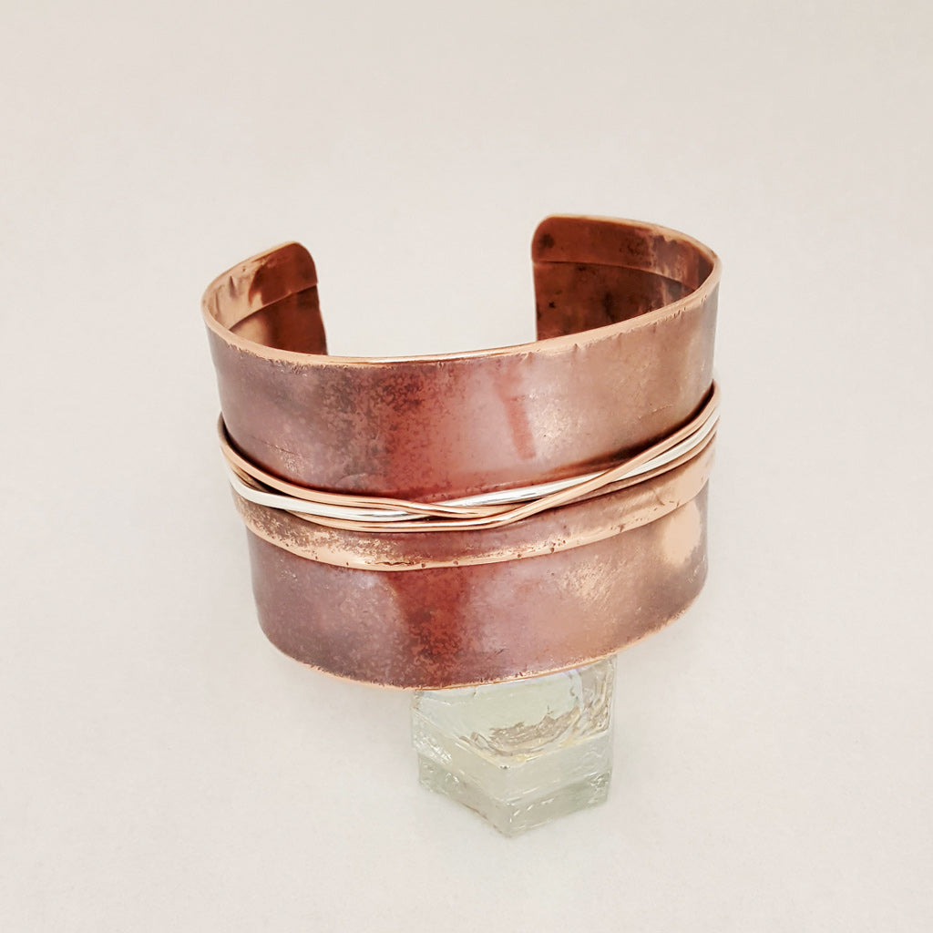 Sterling Copper Twist Copper Cuff