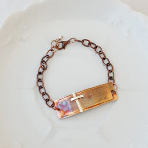 Sterling Cross in Garden Gate - Bracelet