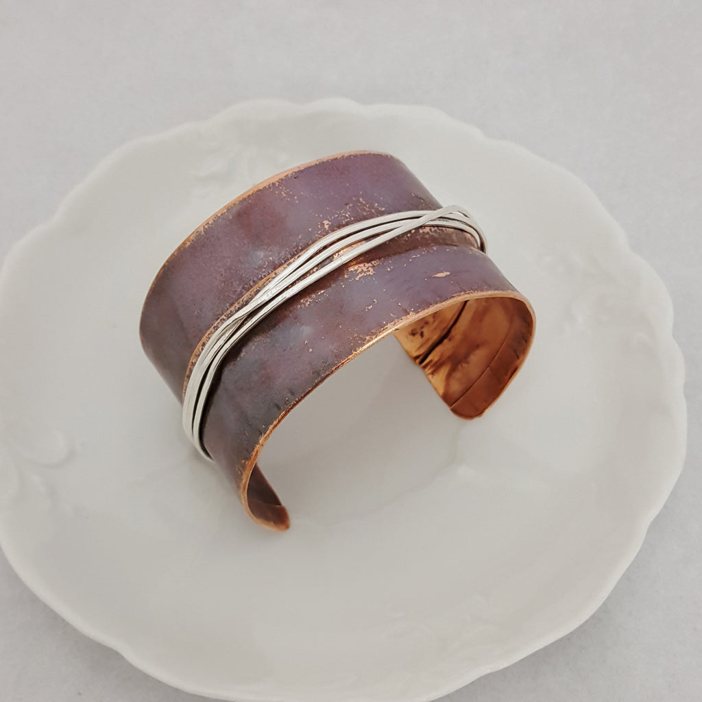 Sterling Paths Copper Cuff