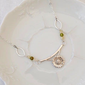 Sunflower - One of a Kind - Necklace
